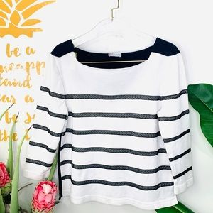 RED VALENTINO Vintage Blue Stripe Nautical Sweater